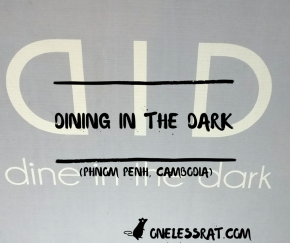 Tonight we Dined in the Dark!